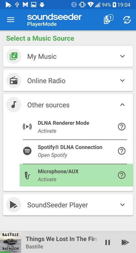 Stream microphone input