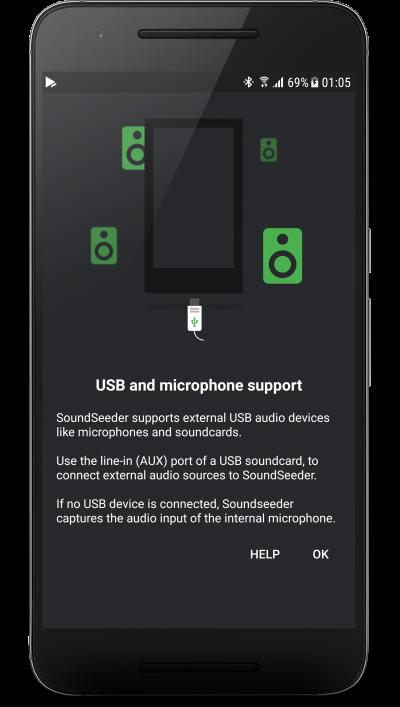 External audio source support