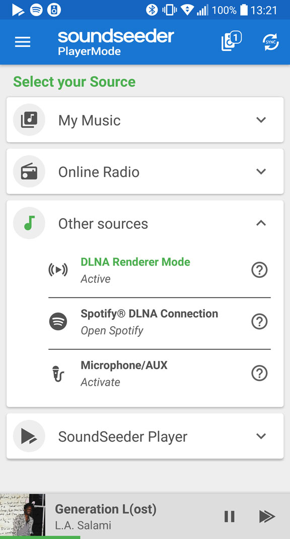 SoundSeeder DLNA Renderer
