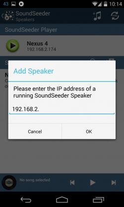 speaker management add speaker