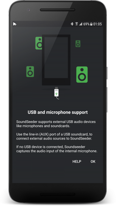 External audio source support